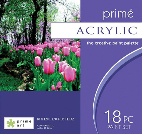 Paint Sets - Prime Art Acrylic Set 18 x12ml tubes