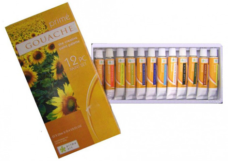 Paint Sets - Prime Art Gouache Set 12x12ml tubes