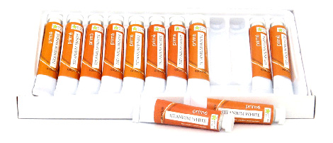 Paint Sets - Prime Art Gouache - White only - 12 tubes