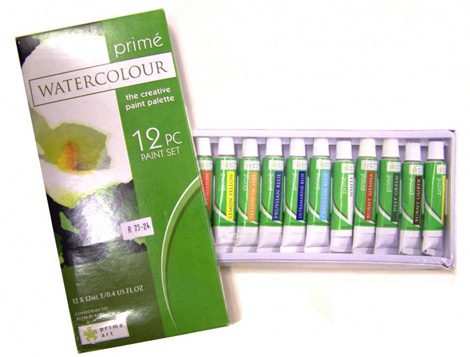 Paint Sets - Prime Watercolour Set 12x12ml tubes