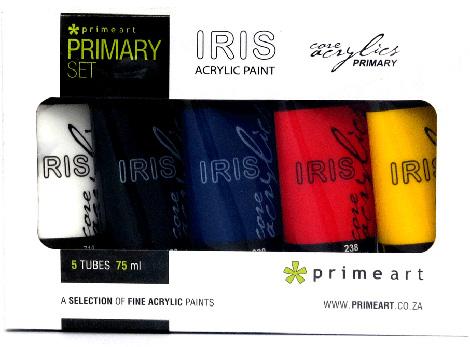 Paints - Iris Acrylic Primary set 5x75ml