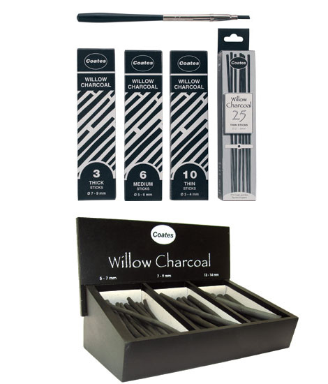 Pencils, Crayons, Charcoal - Coates Willow Charcoal